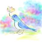 花を運ぶ鳥