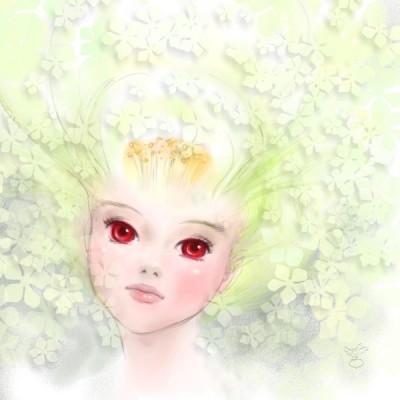 白い花の精