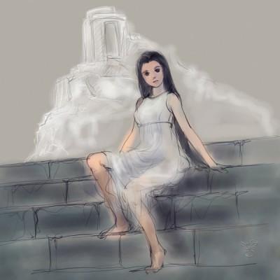 神殿の少女