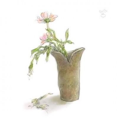 花瓶(デジタル水彩)