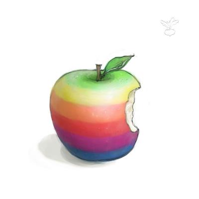 虹色リンゴ