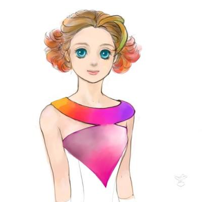 丸と三角なドレス