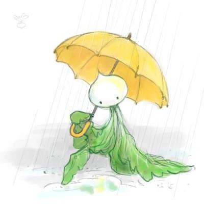 さかさかぶ星人、雨の日のおでかけ