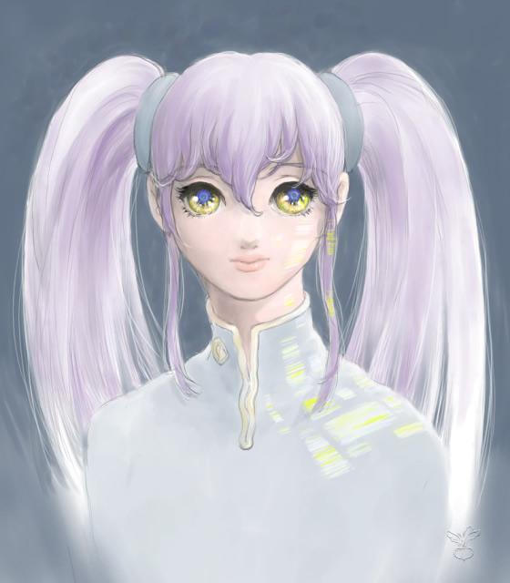 image: ホシノルリ(映り込み) Gallery: ホシノルリ(映り込み) - Painte
